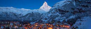 Zermatt am Abend mit Matterhorn